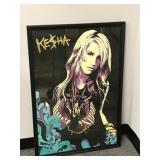 Framed Kesha poster