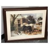 """First Fall of Snow"" print, JF Herring Sr"