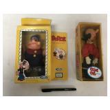 Vintage Popeye and Olive Oyl toys