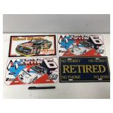 Nascar and Retired license plates