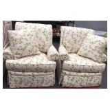 Pair of Lovely Swiveling Arm Chairs