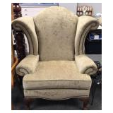 Broyhill Nail Head Wingback Chair 1 of 2