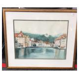 Signed Watercolor Painting