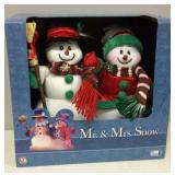 Fiber Optic Mr & Mrs Snowman New in Box