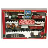 Battery Operated Animated Christmas Train Set