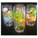 Set of 4 McDonalds Camp Snoopy Glasses