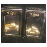 2 Elgin Collectible Mini Clocks