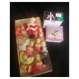 Vintage Holiday Candles and 2 Sets of Santa