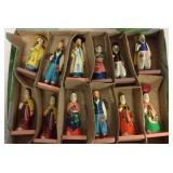Handmade Wooden Asian Figures