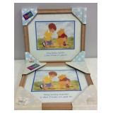 Two Framed Winnie the Pooh Pictures