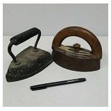 Pair of antique irons
