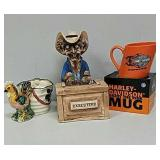 Mugs and executive figure