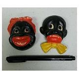Chalkware black Americana figurines