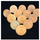 Lot of 13 Cookie Stamps