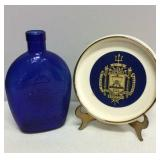 U S Naval Academy Blue Bottle and Gold Trimmed