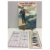 United States Navy Memorabilia -Vintage Poster