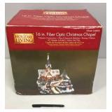 "16"" fiber optic Christmas Chapel"