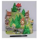 Houses on hill decor