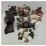 Small ceramic houses and other items