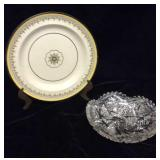 """Small Wedgwood Plate """"The Tyne"""" Pattern and"""
