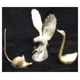 Hampshire Silver Plated Eagle Sculpture and Brass