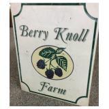 "Metal Berry Knoll Farm Sign 24"" x 28"""