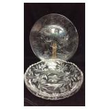 Large Christmas Platter and Very Nice Cut Glass