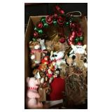 Box Lot of Christmas Items