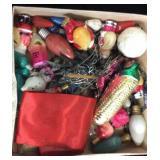 Box Lot of Vintage Christmas Items