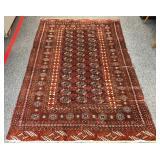 Hand made wool bokhara rug