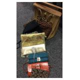 Lot of Vintage Handbags And Clutches