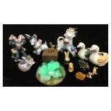 Miscellaneous Animal Figures And Paperweight