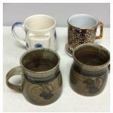 Two Hand Made Pottery Mugs Mug with Tea Bag