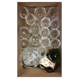 Lot of Stemware and Vintage Glass