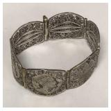 Egyptian style sterling bracelet