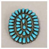 Native American sterling bolo necktie