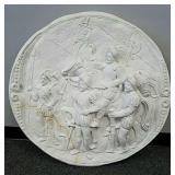 Large plaster wall plaque