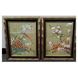 Pair of Asian style framed pictures