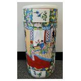 Oriental porcelain umbrella stand