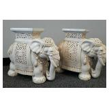 Pair of large elephant plant stands