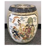 Oriental ceramic garden stool