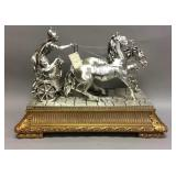 Stunning TIA Roman Soldier and Chariot statue