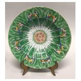 Five Chinese export Famille Verte soup bowls