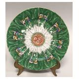 Eight Chinese export Famille Verte salad plates