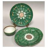 Three pieces Chinese export Famille Verte