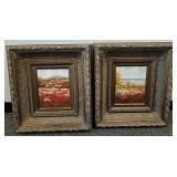 Pair of beautiful framed oil paintings