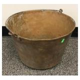 Large brass bucket with handle