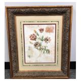 Flower print in gorgeous frame