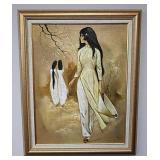 Framed oil painting signed