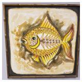 Mid century style fish painting